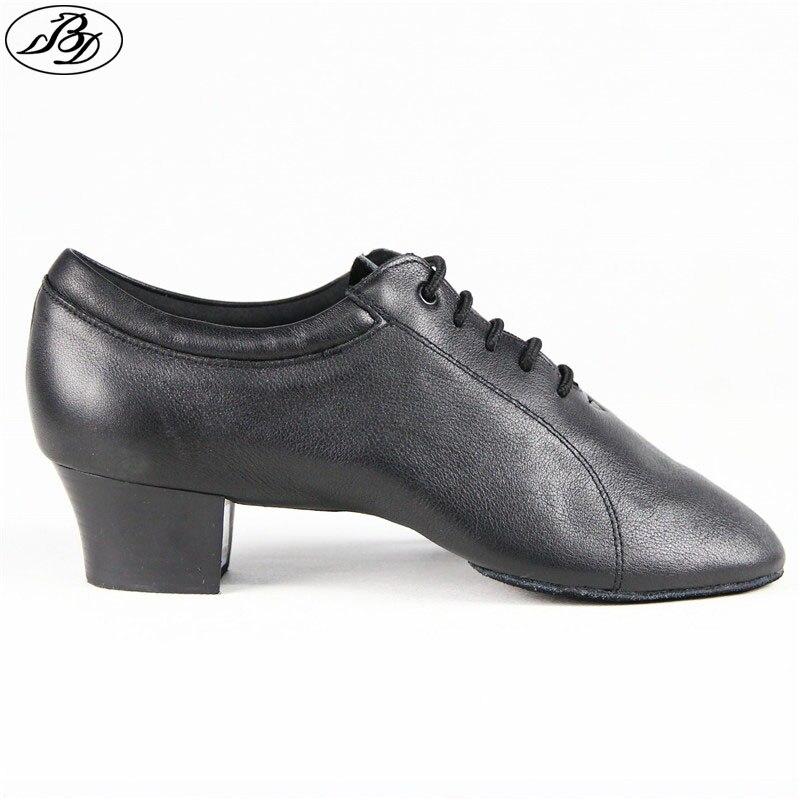 BD hommes chaussures de danse latine 419 en cuir véritable Split semelle chaussure de danse danse Dancesport chaussure de danse Samba Chacha Rumba Jive