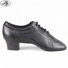 BD Männer Latin Dance Schuhe 419 Echtem Leder Split Sohle Tanzen Schuh Ballsaal Dancesport Dance Schuh Samba Chacha Rumba Jive