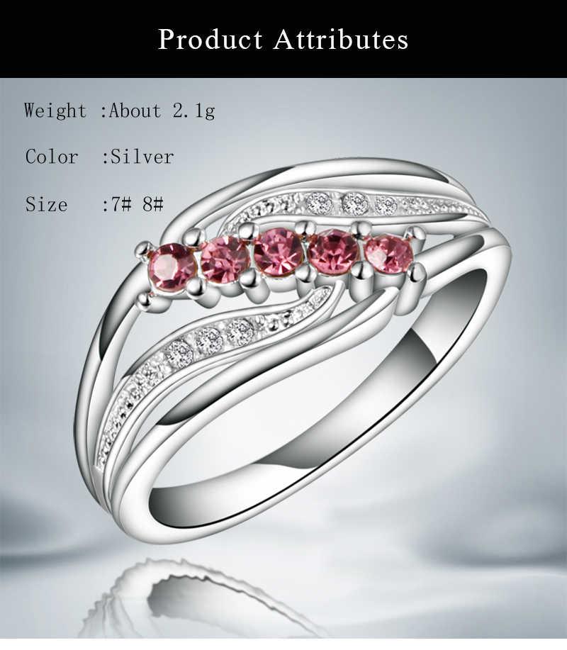 الأحمر الزركون السيدات خاتم السيدات رائعة مجوهرات مكعب خاتم مرصع بحجر الزركونيا الكلاسيكية شخصية الساخن بيع حزب عطلة فتاة هدية