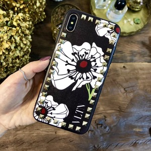 Image 4 - European and American fashion rivets for iPhoneX XS MAX XR 11Pro mobile phone case 6s 7 8plus all inclusive soft leather tide