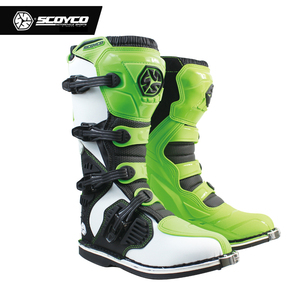 Image 3 - SCOYCO Off road Long Racing gear Boots Motocross Motorbike Riding Long Knee High Shoes Heavy Protective Gear boots