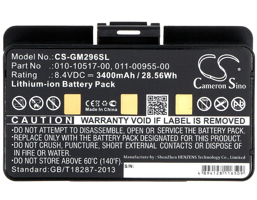 Cameron Sino 3400 mah batterie pour GARMIN GPSMAP 296 376C 378 396 478 495 496 EGM478 010-10517-00 batteries
