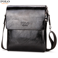 VICUNA POLO Brand Oil PU Leather Mens Messenger Bag High Quality Casual Male Bag Briefcase Simple