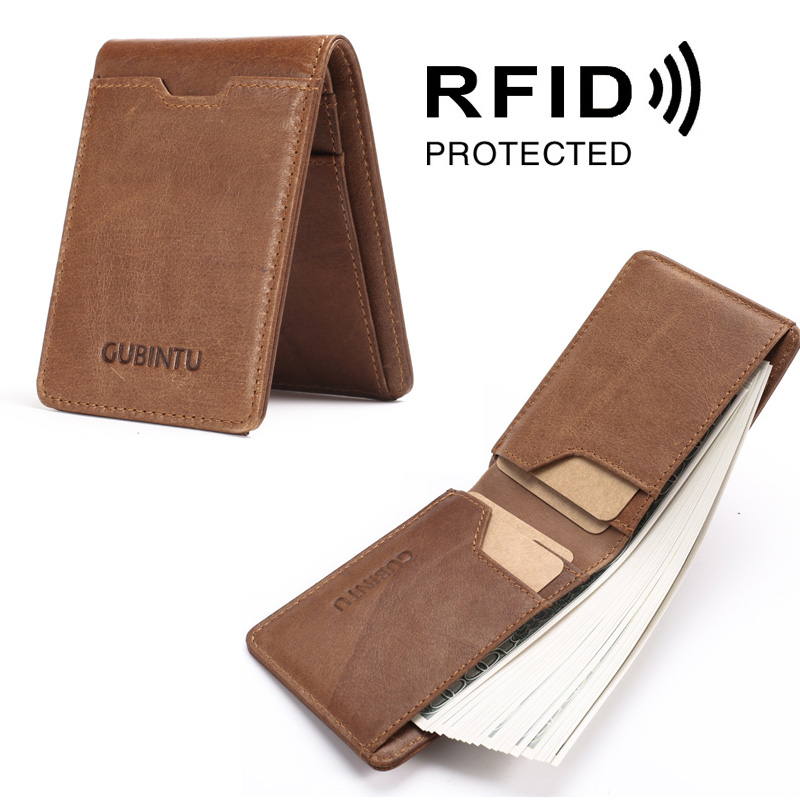 dc9927a95725 Luxury Genuine Cowhide Leather Money Card Wallet Slim - Accessory ...