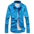 2017 Новая Мода Мужская Вино Красный Синий Французские Запонки Рубашки Мужчин Высокого Качества С Длинным Рукавом Формальные Рубашки Сорочка Homme
