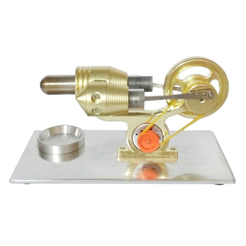 High Quality Metal Cylinder Single Cylinder Stirling Engine Model Building Kits Learning Education Toy Gfit  - GoldHigh Quality Metal Cylinder Single Cylinder Stirling Engine Model Building Kits Learning Education Toy Gfit  - Gold