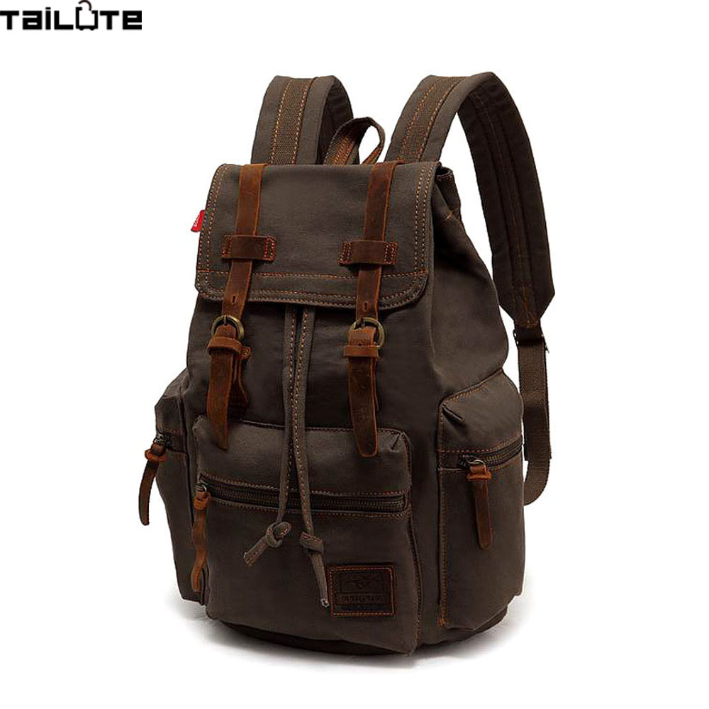 TAILUTE New Vintage Backpack Fashion Canvas Backpack Leisure Travel School Bags Unisex Laptop Backpacks Men Backpack Mochilas new fashion vintage backpack canvas backpack teens leisure travel school bags laptop computers unisex backpacks men backpack