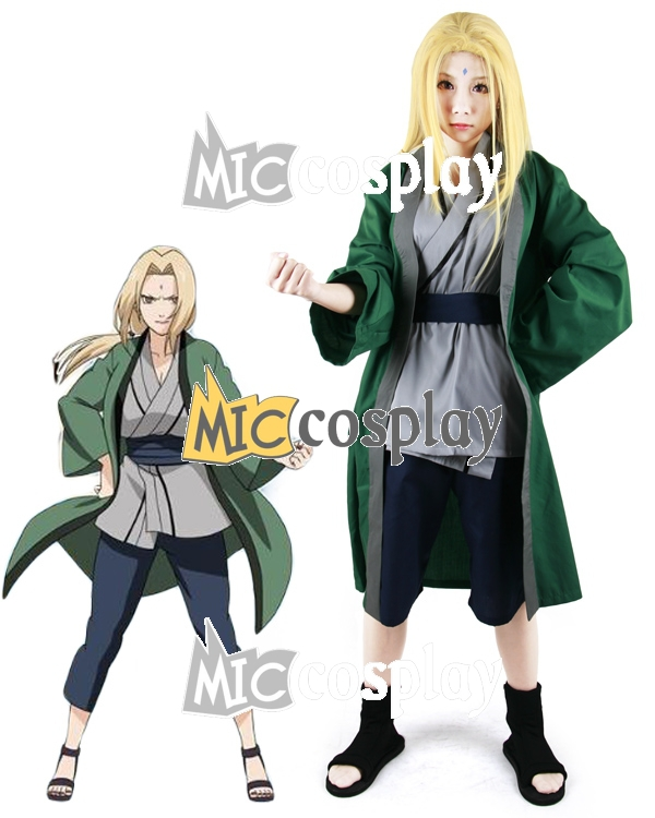 Tsunade Outfit Uniform Cosplay Costume Full Set Halloween Custom Made