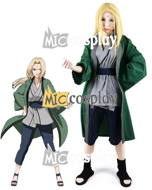 Anime New Hot Naruto Tsunade Cosplay Costume Halloween Party Clothing