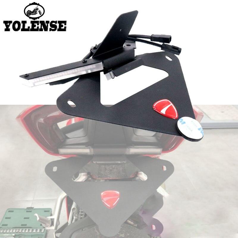 Для Ducati panigale V4 V4S мотоцикл задние тормоза света встроенные Сигналы поворота светодиодный номерных знаков кронштейн