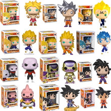 FUNKO POP Anime Dragon Ball SUPER SAIYAN 3 GOKU VEGITO BROLY MAJIN VEGETA Vinyl Action Figure Giocattoli Per I Bambini Di Natale regalo(China)