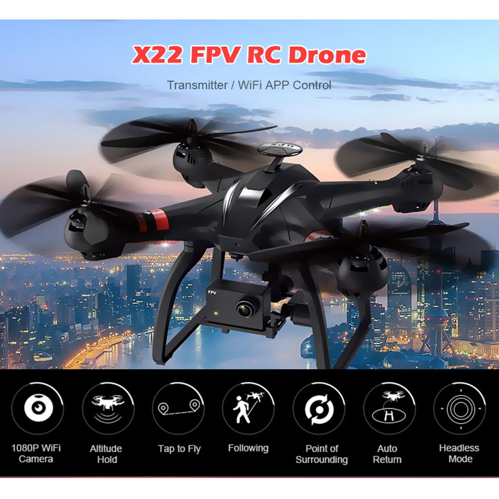 Professional Drone BAYANGTOYS X22 Brushless Double GPS WIFI FPV Quadcopter With 1080P HD Camera Axis Adjustable Gimbal RC Drones gopro3 lightweight 2 axis brushless gimbal board with sensor free debug for fpv airplane rc quadcopter frame racing drones