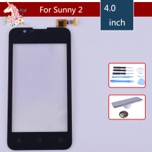 4.0 New Sunny 2 Touch Screen For Wiko Sunny 2 Touch Screen Digitizer Sensor Outer Front Glass Lens Panel Replacement 15 6 for lenovo flex 2 15 2 15 2 15d laptop touch screen digitizer glass lens replacement parts with frame