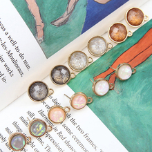 fashion korea alloy drop oil stud earrings belt hanging round for women material diy handmade ear jewelry accessories