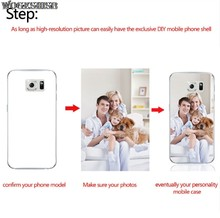 Personalized Logo Custom Photo Phone Case DIY Picture TPU Cover For Samsung Galaxy A3 A5 A7 A8 J8 2018 J2 Prime J3 J5 J7 2017(China)