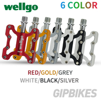 Wellgo KC001 Aluminum Alloy Bicycle Pedals Road Bike Ultralight Pedal MTB Cycling Bearing Pedals Lightweight CroMo Spindle