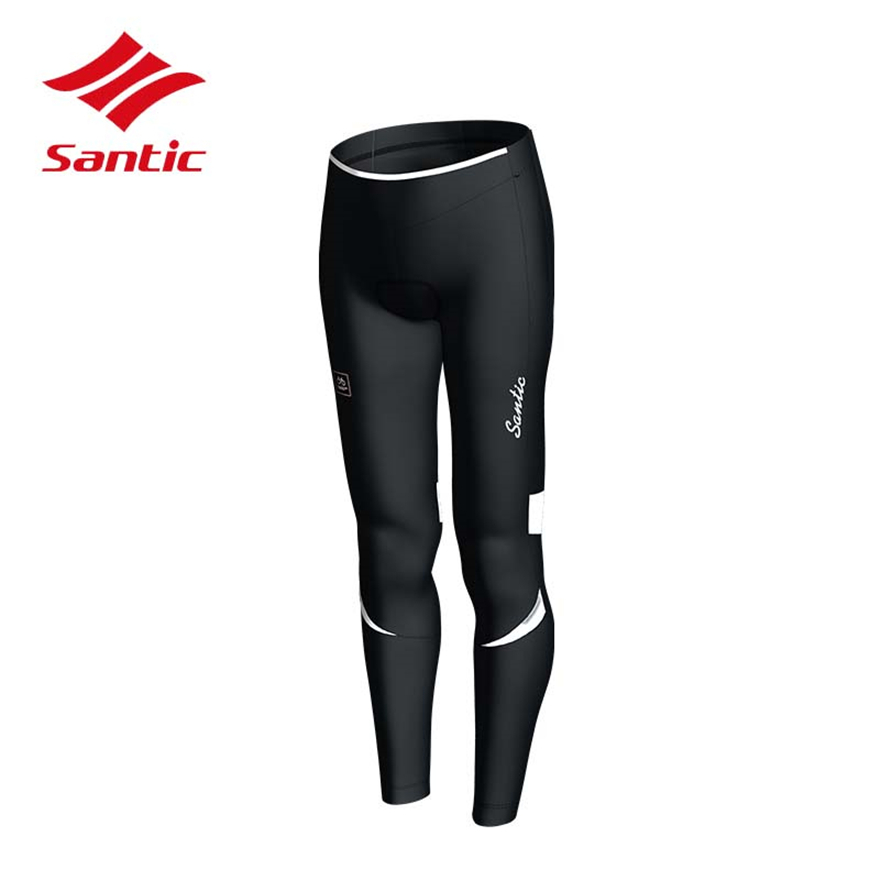 Santic Women Cycling Pants Mountian Winter Fleece Thermal Windproof Bike Trousers MTB Road Bike Bicycle Pants Cycling Trouser santic mtb cycling pants bicycle bike downhill pants women trainers cycling tight pants l5c05058p