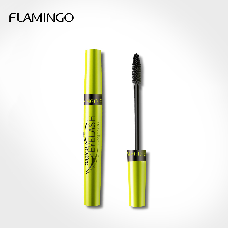 Flamingo 1Pcs Makeup Cosmetic Length Extension Long Curling Eyelash Black Mascara Eyelash Thick Lengthener Makeup Mascaras 6364