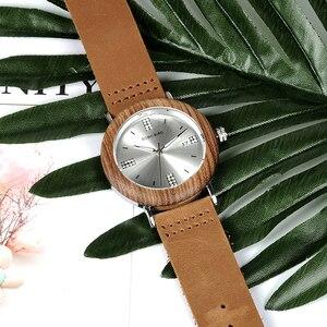 Image 3 - BOBO VOGEL Neueste Damen Holz Uhr Kalender Datum Edelsteine Imitieren Diamant Mode Quarz Uhren für Frauen Holz Box