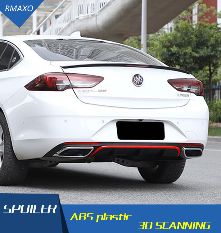 For Opel Insignia Body kit spoiler 2017 2019 Opel Insignia ABS Rear lip rear spoiler front