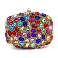 Women Oval Shape Crystal Clutches Colorful Diamond Bag With Chain Evening Bags Purses And Handbags Wedding Party Bolsos De ZZ538