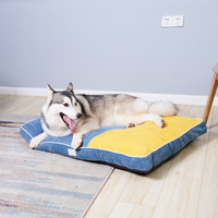 Breathable Dog Bed Mats Pet Pads Kennels Basket Bed House Nest for Large Dogs Detachable Winter Warming Pet Dog Mats for Animals
