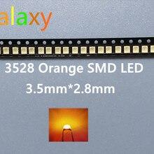 100 шт SMD Led 3528/1210 оранжевый/Янтарный Smd/smt Plcc-2 высокого качества Ультраяркий Свет-излучающие диоды
