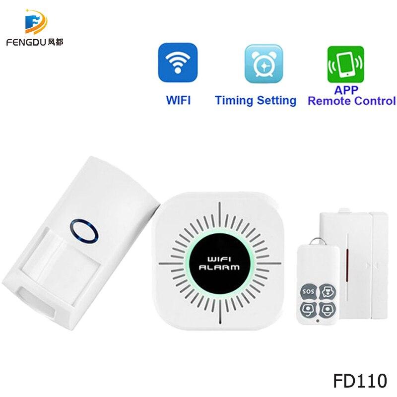 Wireless RF433 PIR Motion Sensor Door Sensor Smart Home Burglar Security Alarm System work with Wifi Alarm Host Home Protection