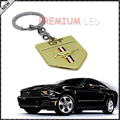 (1) Golden Chrome Finish Pony Horse Key Chain Fob Ring Keychain For Mustang GT 500 Cobra