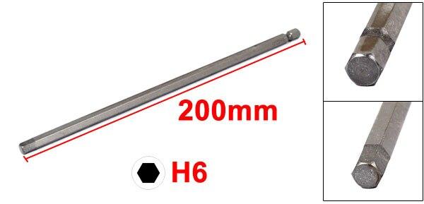 "Купить с кэшбэком uxcell 1/4"" Hexagon Shank H3 H4 H5 H6 Magnetic Electric Hex Head Screwdriver Bit 200mm Long"
