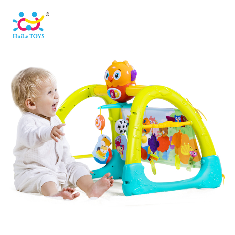 HUILE TOYS 2105 Baby Toys 5 in 1 Play Gym Baby Toy Play Mat & Sleeping Bear Educational Crawling Activity Mat Play Gym Carpet цена 2017