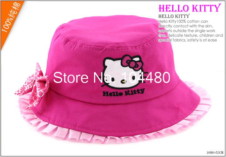 e9a3450af4036 2014 new cap baby   kids bucket hat hello kitty children accessories fishing  hat outdoor summer sun hat for girls-in Hats   Caps from Mother   Kids on  ...
