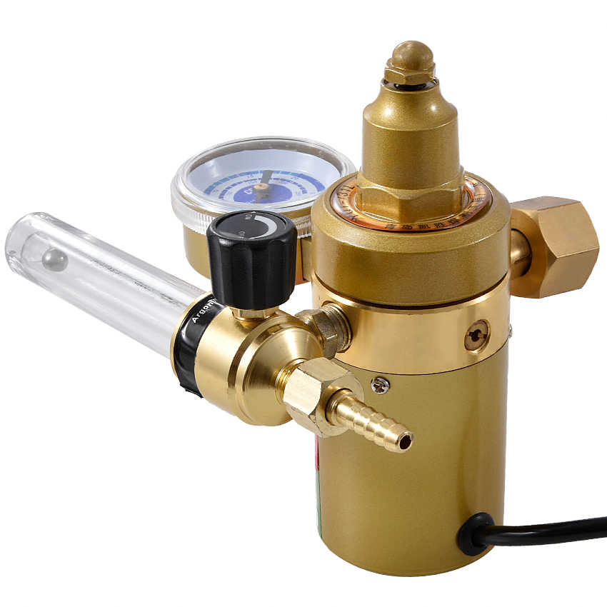 YQT-731L Carbon Dioxide Table Pressure Reducing Valve 36V / 220V Mixed Gas  Pressure Reducer Electric Heating C02 Table 150W/75W