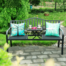 Outdoor Creative Tea Table Chairs Iron Folding Leisure Coffee Table Courtyard Outdoor Furniture
