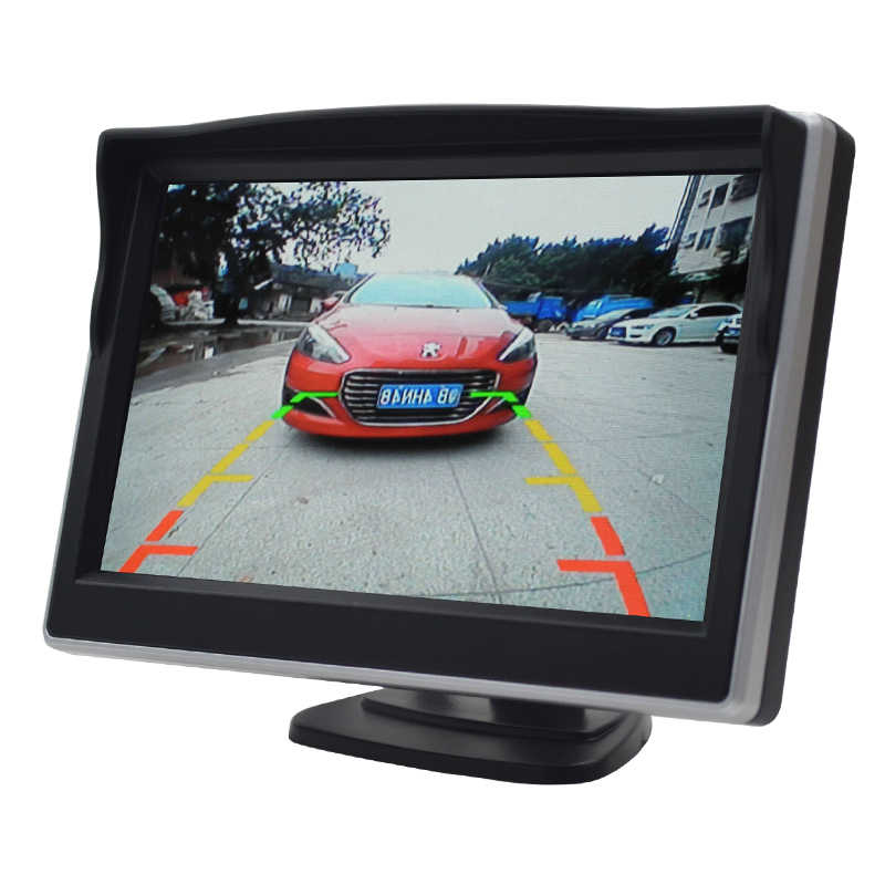 """سيارة مراقب 5.0 """"شاشة سيارة TFT شاشة الكريستال السائل ل الرؤية الخلفية عكس كاميرا الرقمية اللون 5.0 بوصة PAL/NTSC مرآة الرؤية الخلفية"""