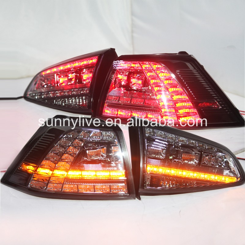 For VOLKSWAGEN Golf 7 LED Tail Lamp  Smoke Black SN