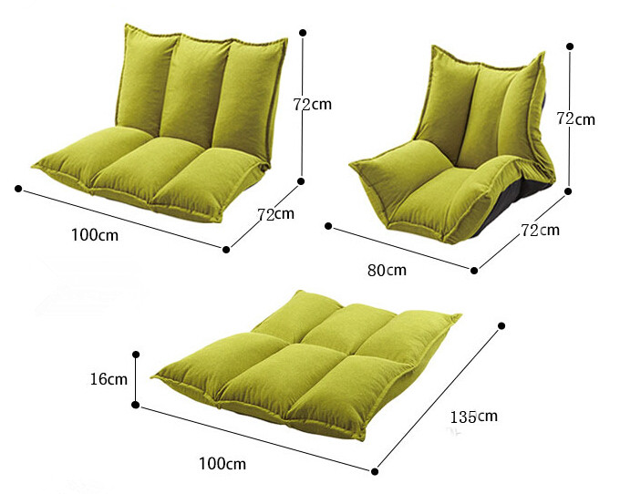 Aliexpress Com Living Room Futon Chair Furniture Japanese Floor Legless Modern Fashion Leisure Fabric Reclining Sofa Bed From Reliable