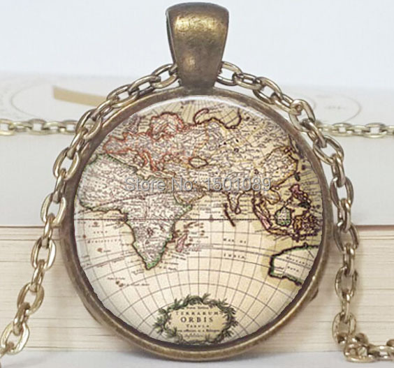 Nm040 vintage world map jewelry earth globe pendant art pendant nm040 vintage world map jewelry earth globe pendant art pendant teacher gift travel adventurer world map gumiabroncs Gallery