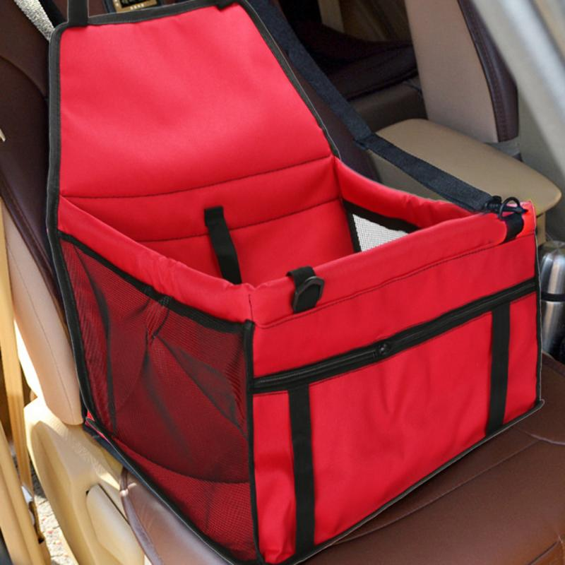 Dog Car Seat Cover Car Booster Seat for Dog Car Travel Safety Seat Pet Carrier Bag Folding Portable with Leash Dog Bag Basket