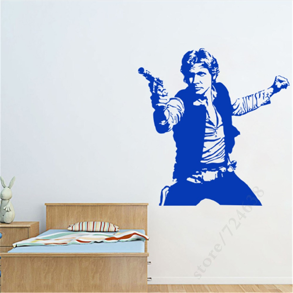 Art Design Han Solo Wall sticker Home Decoration Vinyl Star Wars Decals Removable House Decor DIY Movie Characters For Room-in Wall Stickers from Home ...  sc 1 st  AliExpress.com & Art Design Han Solo Wall sticker Home Decoration Vinyl Star Wars ...
