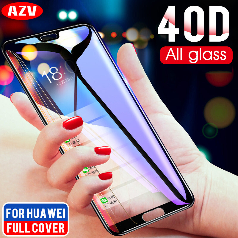 40D Tempered Protective Glass On The For Huawei P20 P10 P9 P8 Lite 2017 2016 Screen Protector On The P20 PRO P9 P10 Plus Glass