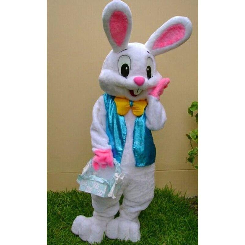 En stock, Costume de mascotte de lapin de pâques EPE déguisement Cosplay tenue de lapin taille adulte