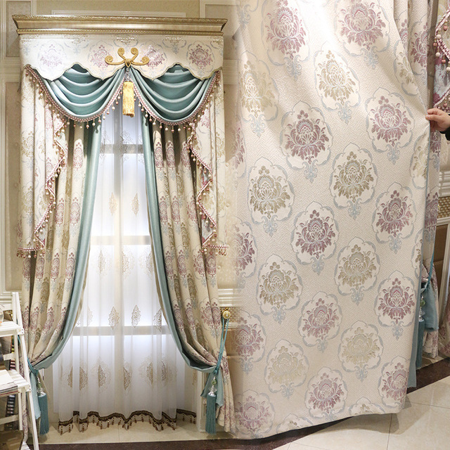 New Arrival European Valance Curtain Embroidered Curtains For Living Room  Window Screening Custom Made