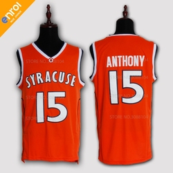 Cheap Retro Carmelo Anthony Basketball Jerseys 15# Syracuse University Throwback Knitted Embroidery High Quality Shirts For Men