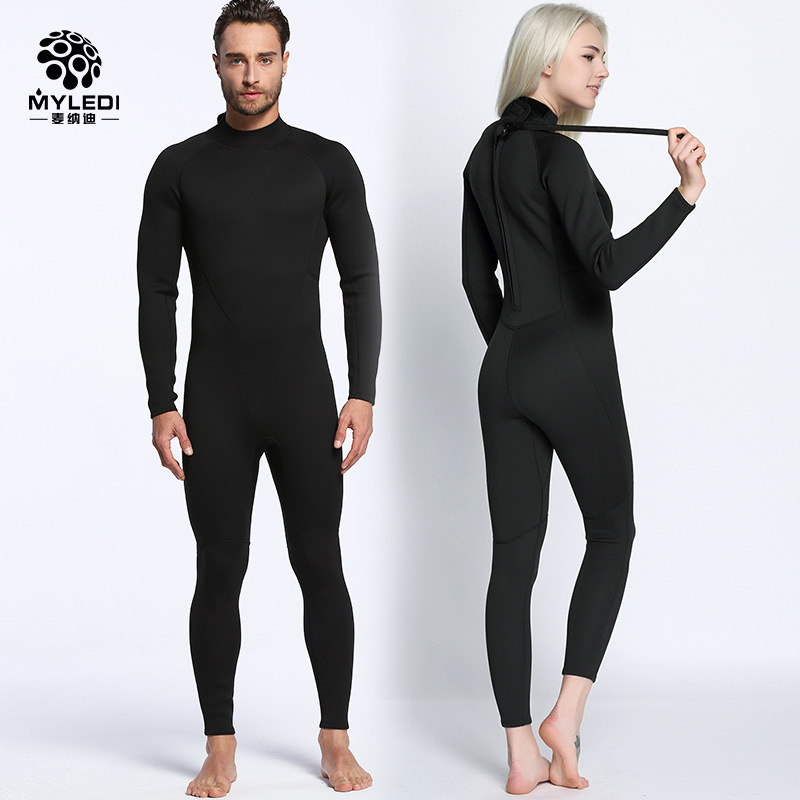 Lovers 2MM Black Wetsuit Siamese Surf Clothing Anti Cold Waterproof Outdoor Beach Swimsuit Diving Suit Size S-XXL MY056 MY057Lovers 2MM Black Wetsuit Siamese Surf Clothing Anti Cold Waterproof Outdoor Beach Swimsuit Diving Suit Size S-XXL MY056 MY057