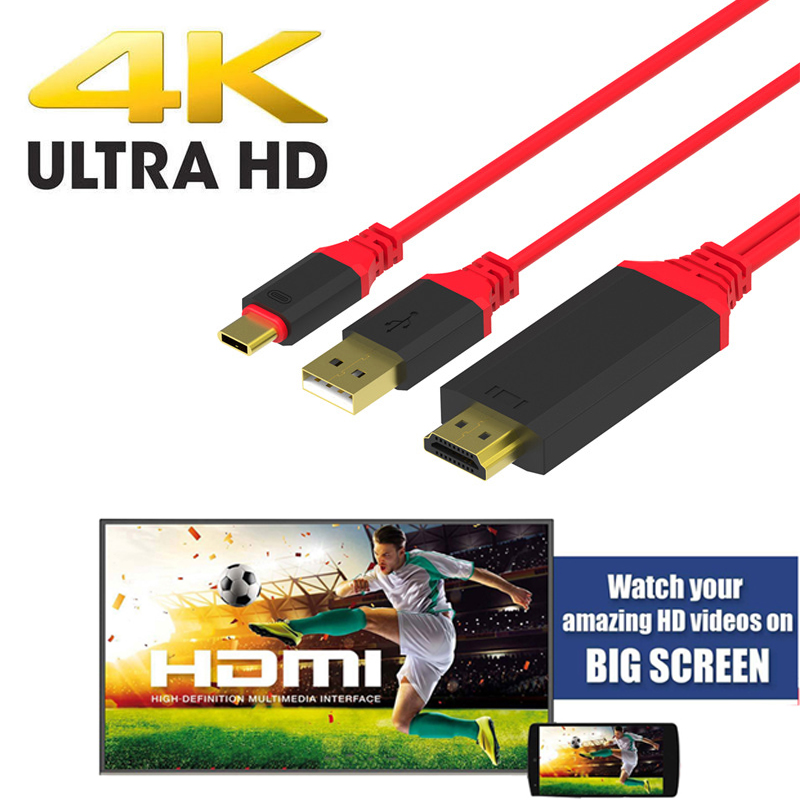 USB c Type C HDMI Video Cable Adapter for Macbook Samsung Galaxy S8 S8+ Note 8 LG G5 Lenovo Yoga 5 Pro Google ChromeBook to TV new usb 3 1 type c usb c to hdmi 4k tv video hdtv av adapter cable for macbook huawei matebook samsung galaxy s8 s8 plus lg g5
