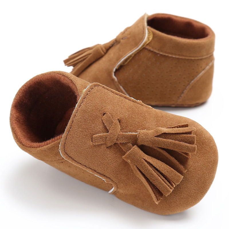 New Style PU Suede solid Leather Newborn Infant Toddler princess fringe Baby Moccasins Soft sole Baby Boys Girls Shoes 0-18M 2018 pu leather hard sole toddler moccasins soft fringe baby shoes non slip first walkers shoes for baby boys girls