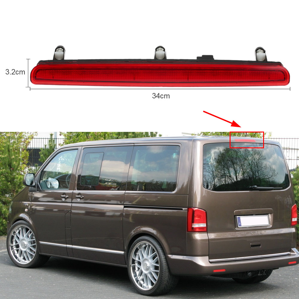 Car High Level Rear Brake Light Lamp 12V High Mount Stop Lamp LED Third Brake Light for VW T5 1997-2002