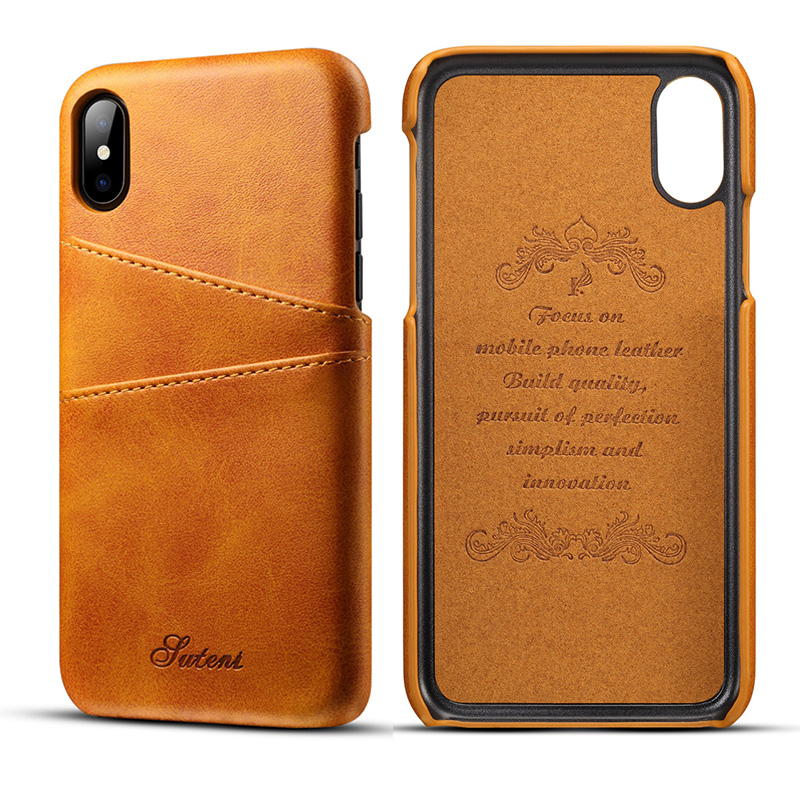 Luxury PU Leather Wallet Card Case For iPhone Xs Max