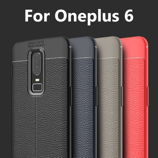timeless design 16ec4 e57d7 US $3.0 14% OFF|Aliexpress.com : Buy Oneplus 6 case 2018 best luxury  shockproof imitation leather soft silicon TPU skin case for Oneplus6 full  ...